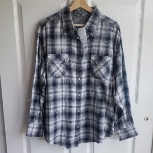 NWT Vince Oversized Button Down Shirt Size Large
